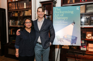 "With Mental Health Activist and author of ""The Color of My Mind,"" Dior Vargas, at the launch event for ""The Performing Art of Therapy,"" at Housing Works Bookstore & Cafe."