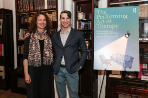 "With actress Robin Weigert (who plays the therapist on the HBO series, ""Big Little Lies,"" at the launch for ""The Performing Art of Therapy."""